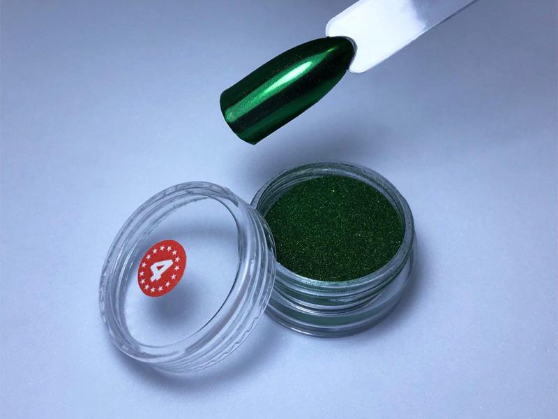 Втирка зеленый металлик 4